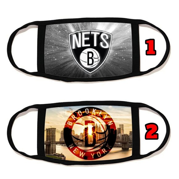 2 PACKS brooklyn nets face mask face cover